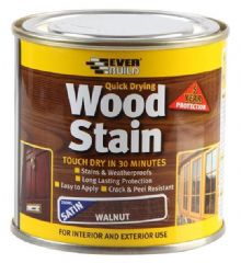 EVERBUILD WSTAINSWAL02  Wood Stain Walnut 250Ml